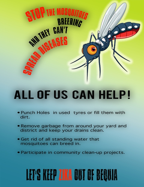 Zika Mosquito Control Poster
